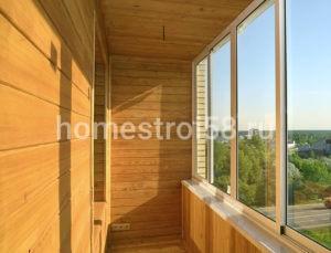 Отделка балкона, лоджии