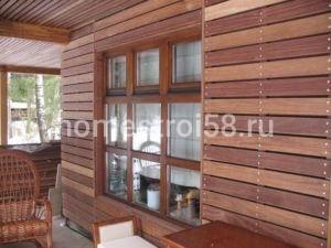 Деревянная отделка фасада